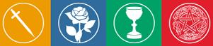De 4 kleuren: Uitdagingen, Inzichten, Gaven en Hulpbronnen.